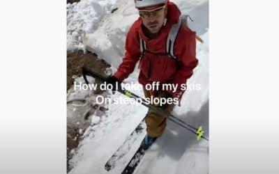 Comment déchausser ses skis en pente raide