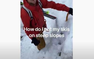 Comment chausser ses skis en pente raide