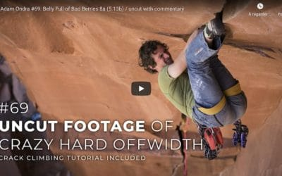 Adam Ondra dans les pires fissures d'Indian Creek