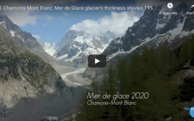 Mer de glace de 1985 à 2020 : moins 115 mètres