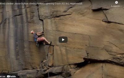 Jesse Dufton, grimpeur et aveugle
