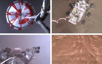 Arrivée sur Mars du robot Perseverance