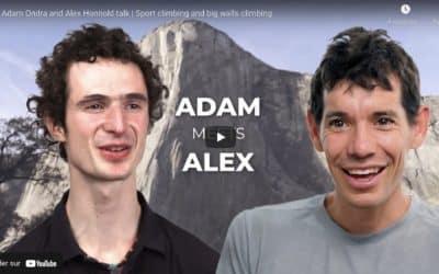 Adam Ondra et Alex Honnold, la rencontre !