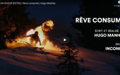 Un skieur en feu, rêve consumé